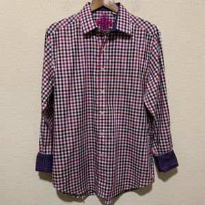 Robert Graham Plaid Button Down Shirt Medium